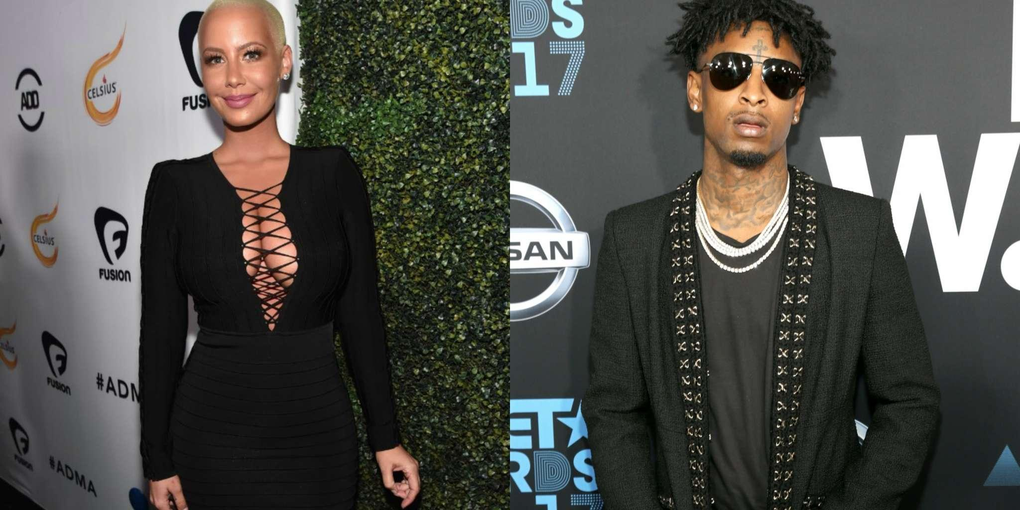 21 Savage Says He And Amber Rose Are 'Cool'