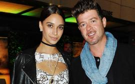 Robin Thicke And His Pregnant Girlfriend April Love Geary Are Engaged - See The Sweet Moment!
