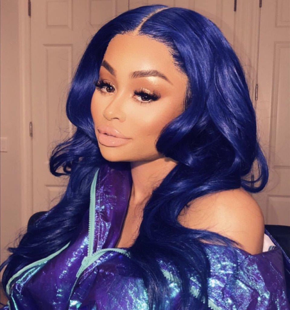 Blac Chyna Debuts New Blue Hair While Wishing Fans A Happy New Year