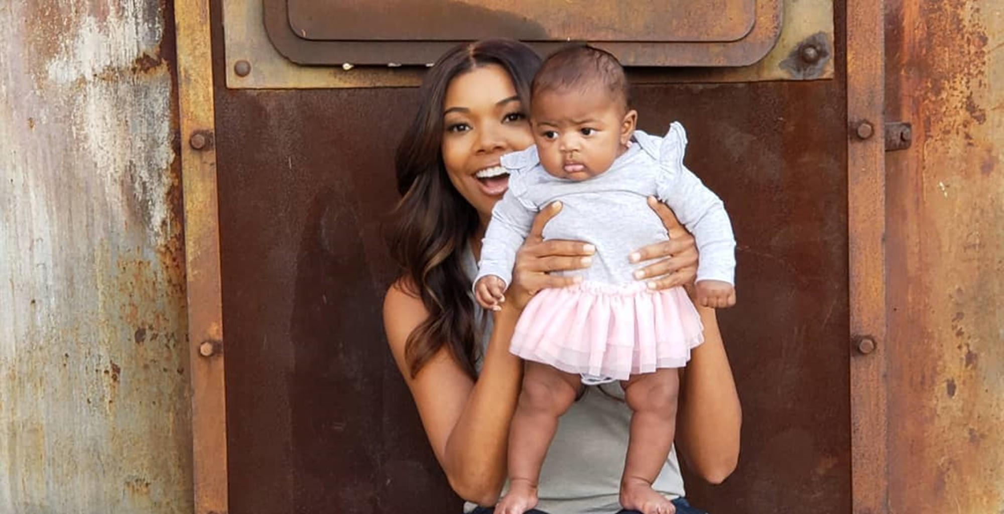 Gabrielle Union Feels Her Heart Melt After Baby Kaavia Poses Like A Pretty Ballerina In New Picture -- Fans Still Find She Is Dwayne Wade's Little Twin