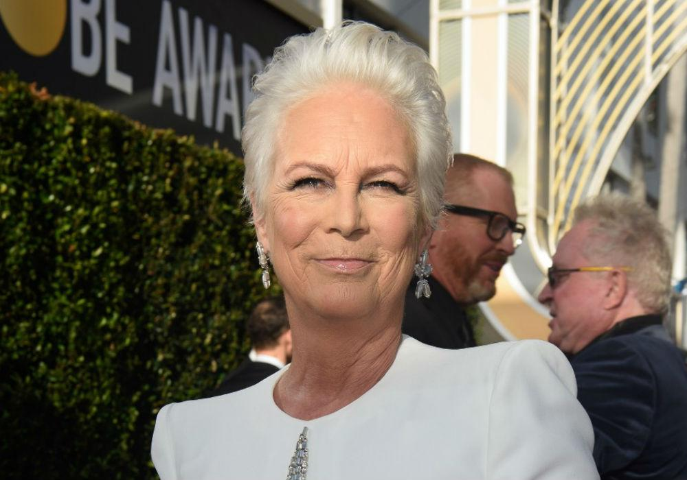 Jamie Lee Curtis Brings Pro-Aging To The Golden Globes With Gorgeous White Hair And Matching Ensemble