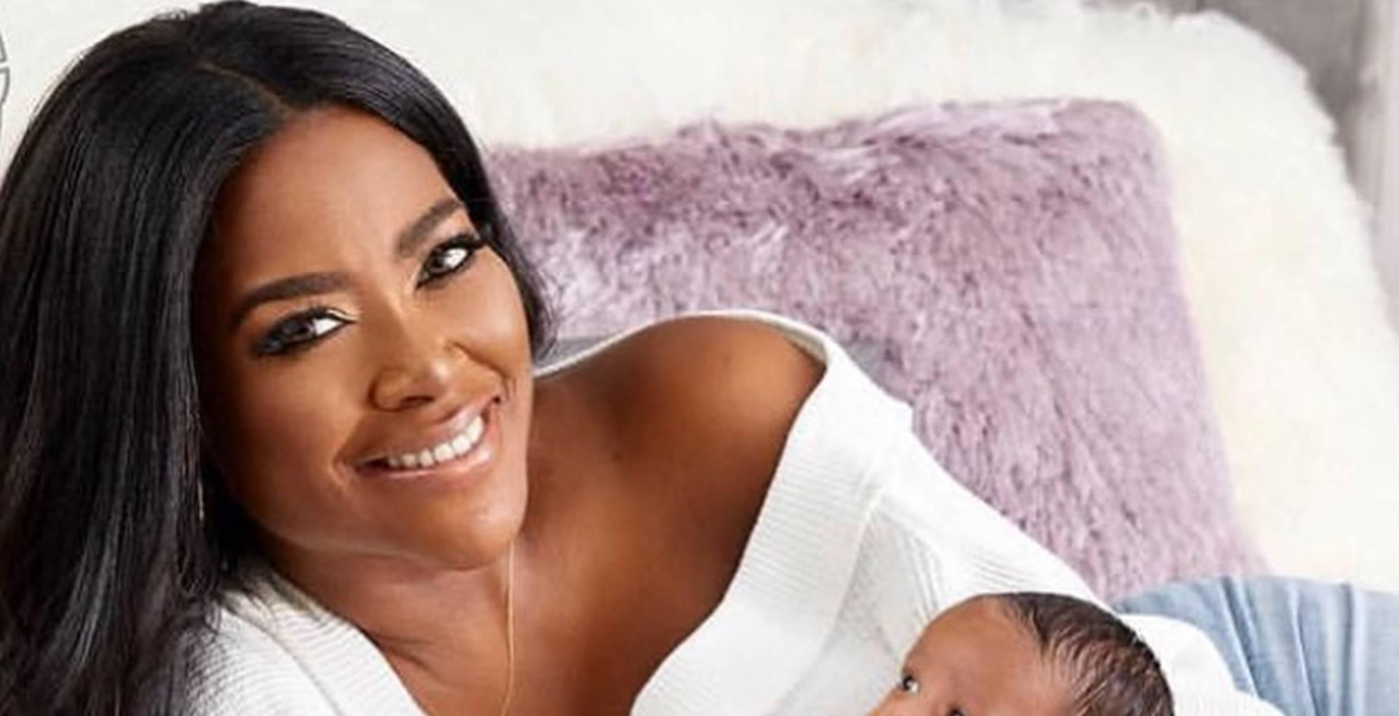 Kenya Moore Shares A Photo With Baby Brooklyn Right After Her Birth - Witness The First Time Kenya Held Her Baby