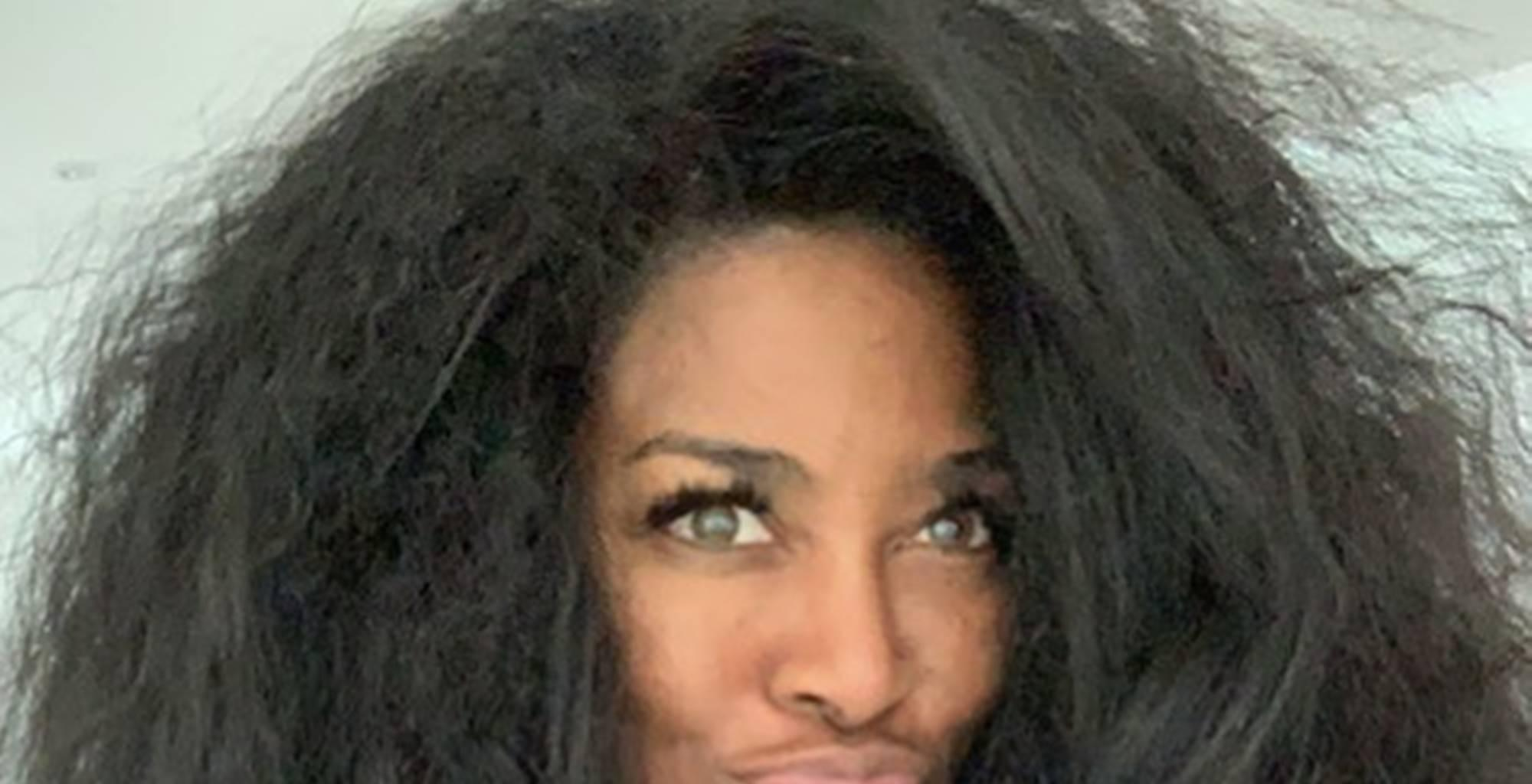 Kenya Moore's Natural Hair In Funny Picture Has 'RHOA' Fans Smiling And Critics Puzzled