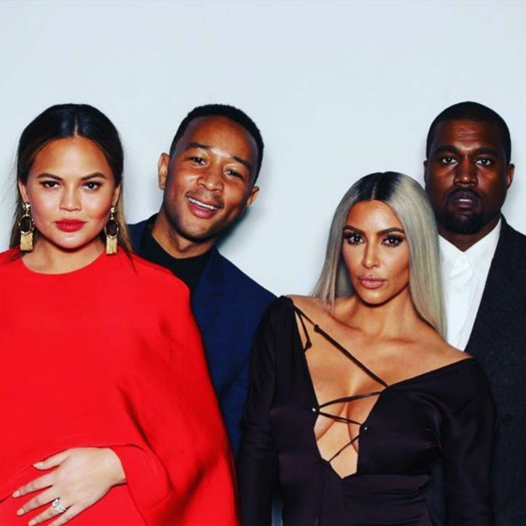 Chrissy Teigen, John Legend, Kanye West And Kim Kardashian Give Fans Double Date Vibes At John's Birthday Party - Check Out The Pics