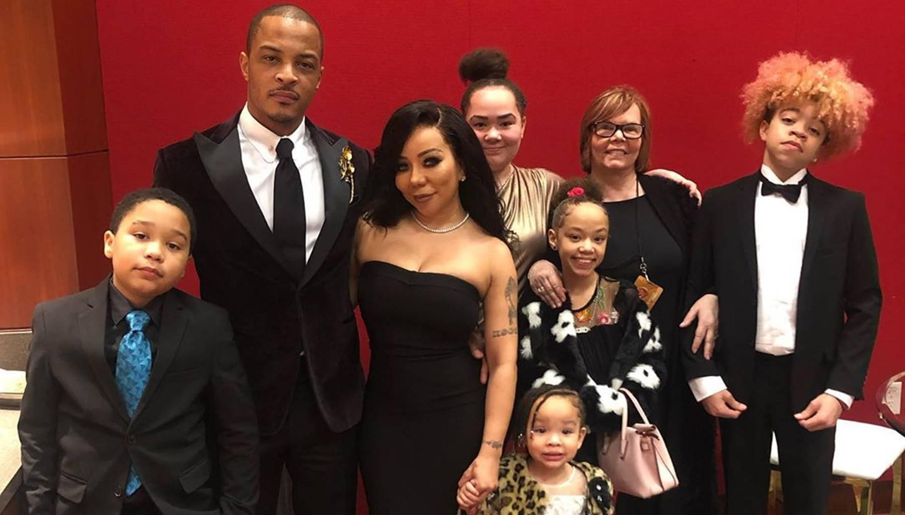 Tiny Harris Praises 'Handsome' Husband T.I. On Big Night -- Photos With Children Including Heiress Go Viral