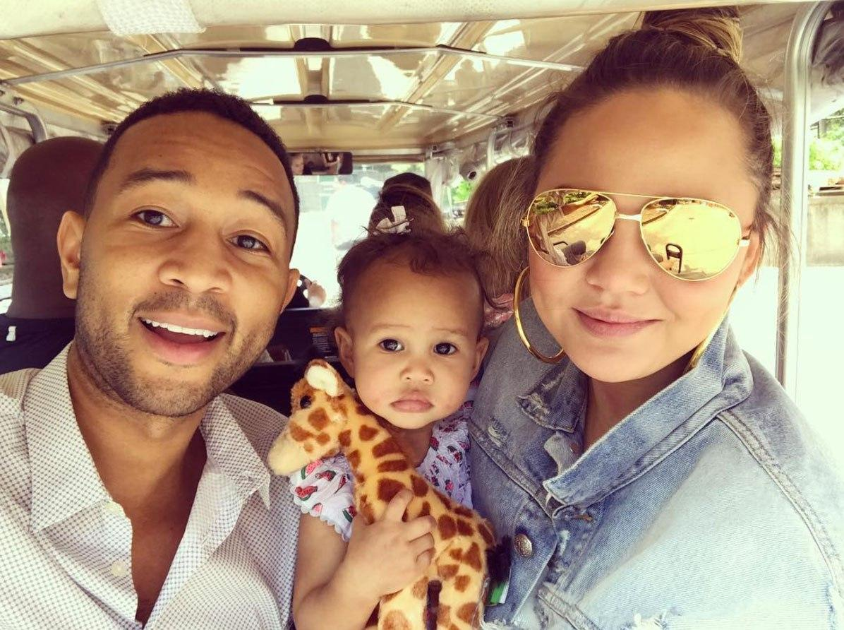 Chrissy Teigen Shares Gorgeous Pics Of Her Babies Having Fun Without Her - Luna And John Legend Having A Blast And Fans Predict Luna Will Be A Heartbreaker