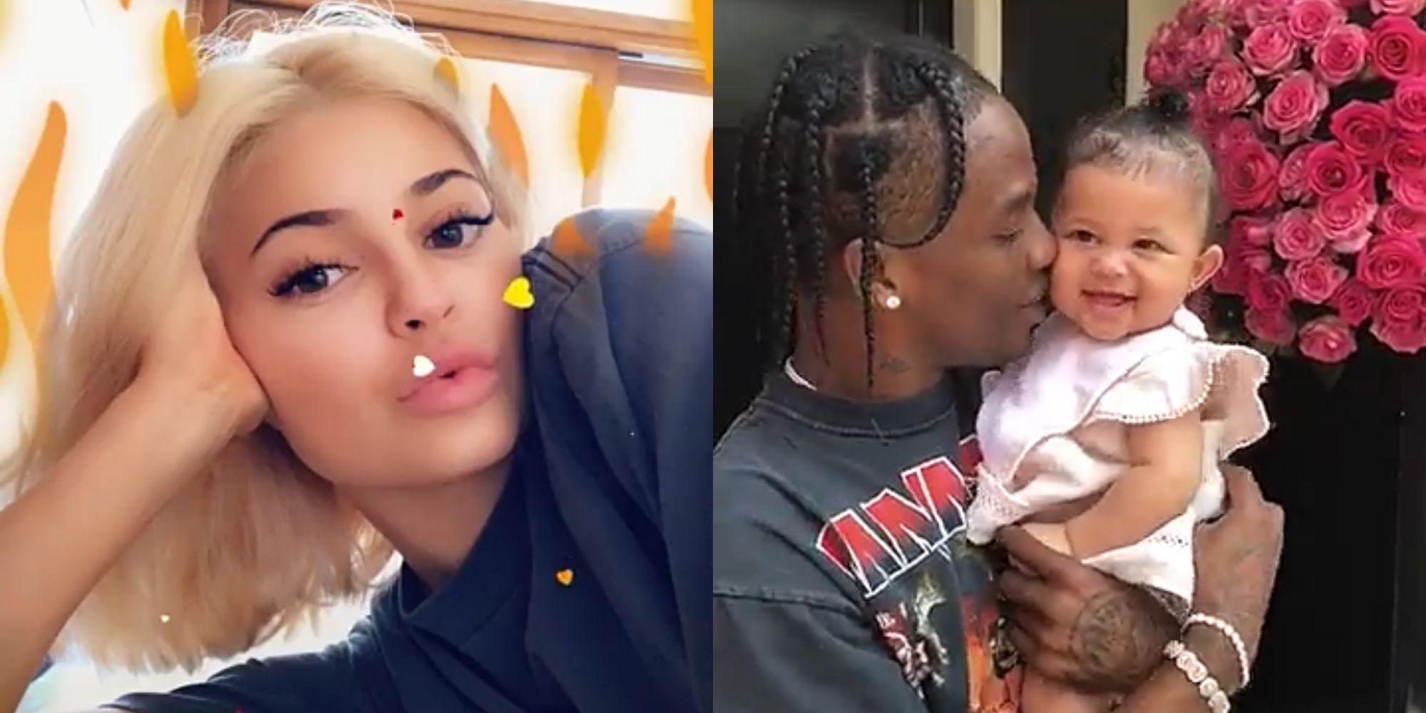 Kylie Jenner's Daughter, Stormi Webster Rocks Her Dad's Merch - Check Out Her Fashion Game