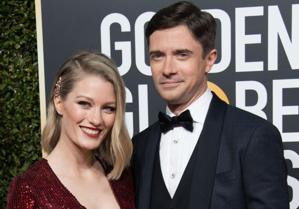 Topher Grace And Ashley Hinshaw Attend Golden Globes As Grace Readies For 'Breakthrough' Premiere