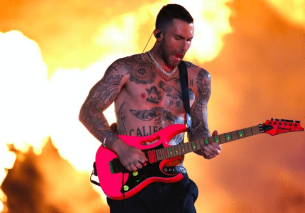Adam Levine Takes His Shirt Off At Super Bowl Half-Time Show And The Internet Goes Crazy — More Like A Chippendales Act