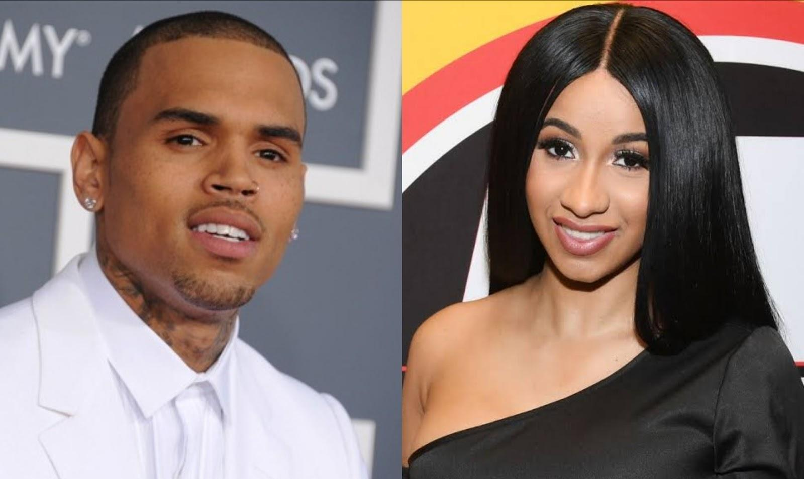 Chris Brown Drags Cardi B Into His Social Media Feud With Offset - 'Ima Send Ya Girl Flowers'