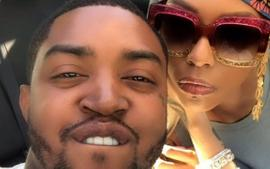 Lil Scrappy Looks Terrified In This Video While Bambi Benson Is Grabbing & Shaming Him In Front Of Kirk Frost - Fans Are Laughing Their Hearts Out, Making Captions