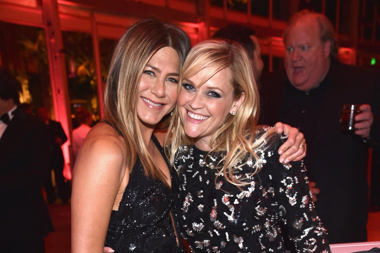 Reese Witherspoon Tumbles Down The Stairs At Jennifer Aniston's Birthday Party
