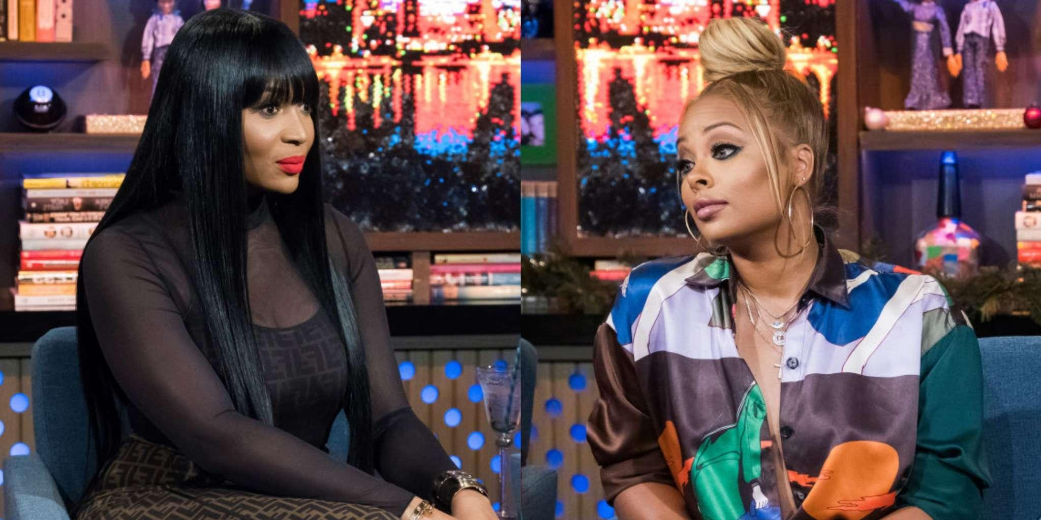 Marlo Hampton Shades Eva Marcille By Calling Her A 'Cute IG Model' On WWHL - Angry Fans Defend Eva And Slam Marlo