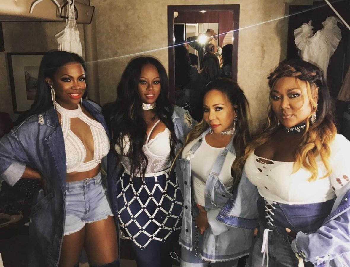 Tiny Harris Makes Fun Of Older Xscape's Ladies' Outfits With A Throwback Video