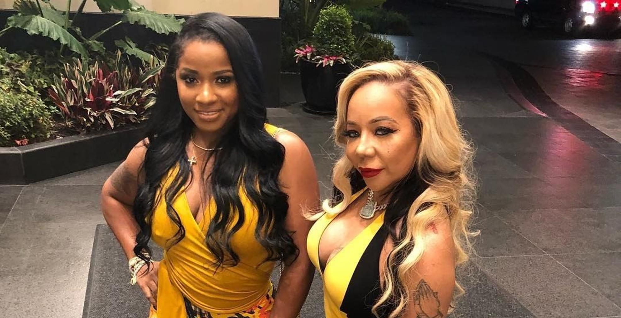 Toya Wright Shows Off Her Booty In Pink Animal Print Pants And Tiny Harris & Brielle Biermann Are Here For It