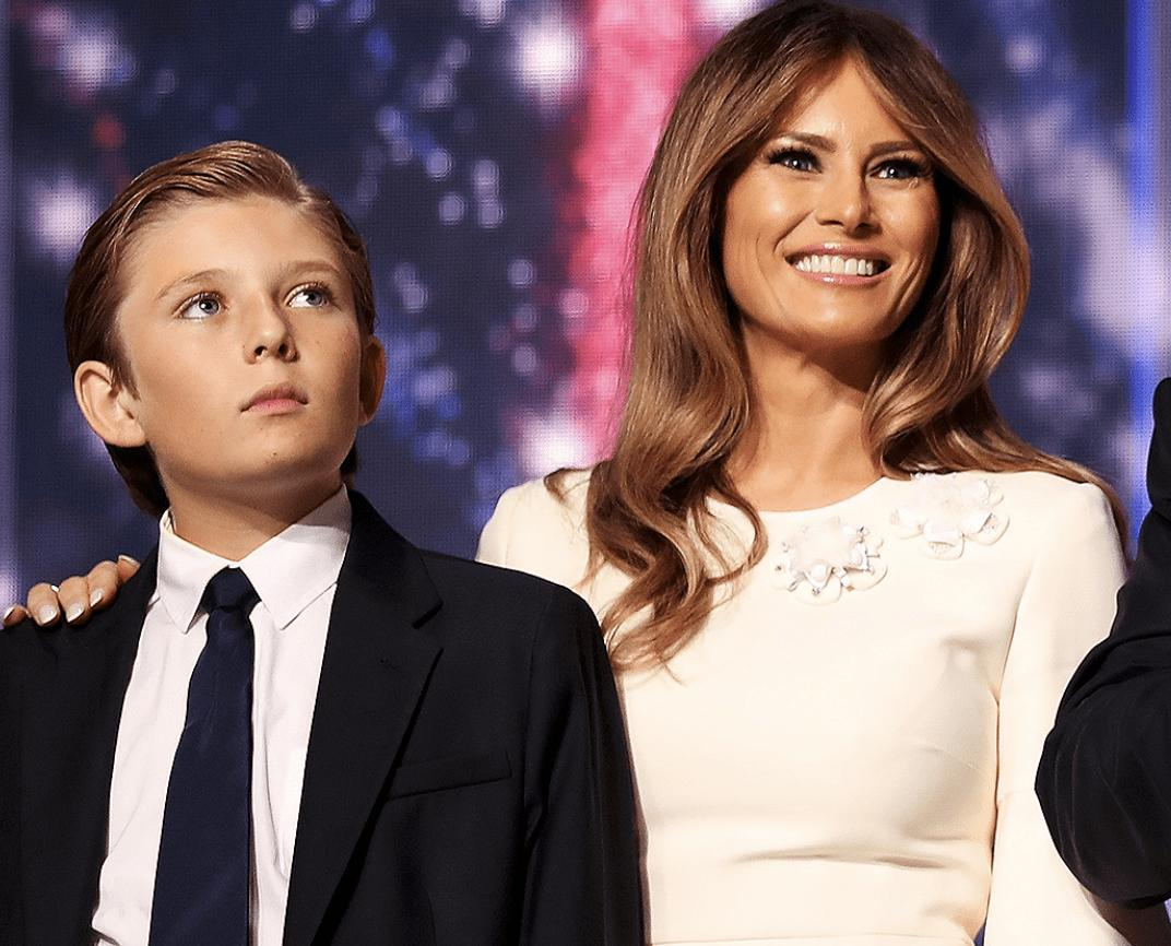 Melania Trump Says She's Already Warned 12-Year-Old Son Barron About The Dangers Of Consuming Drugs!