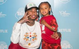 Tyga Is Twinning With His And Blac Chyna's Son King Cairo At The Kids Choice Awards