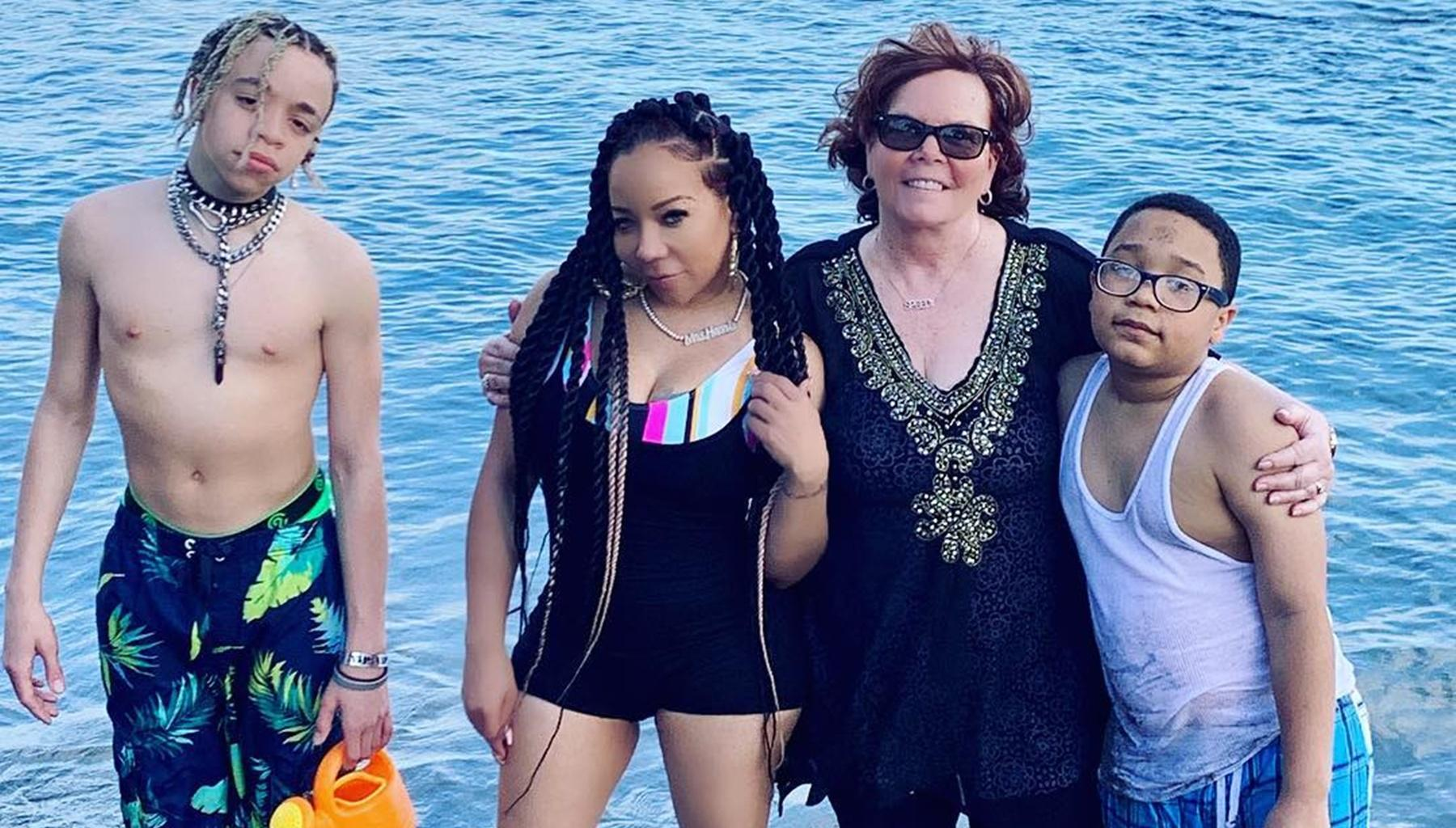 T.I. Flexes Muscles In Hawaii Vacation Pictures As He Remembers His Sister -- Tiny Harris' Family's Bond Has Fans Feeling Upbeat