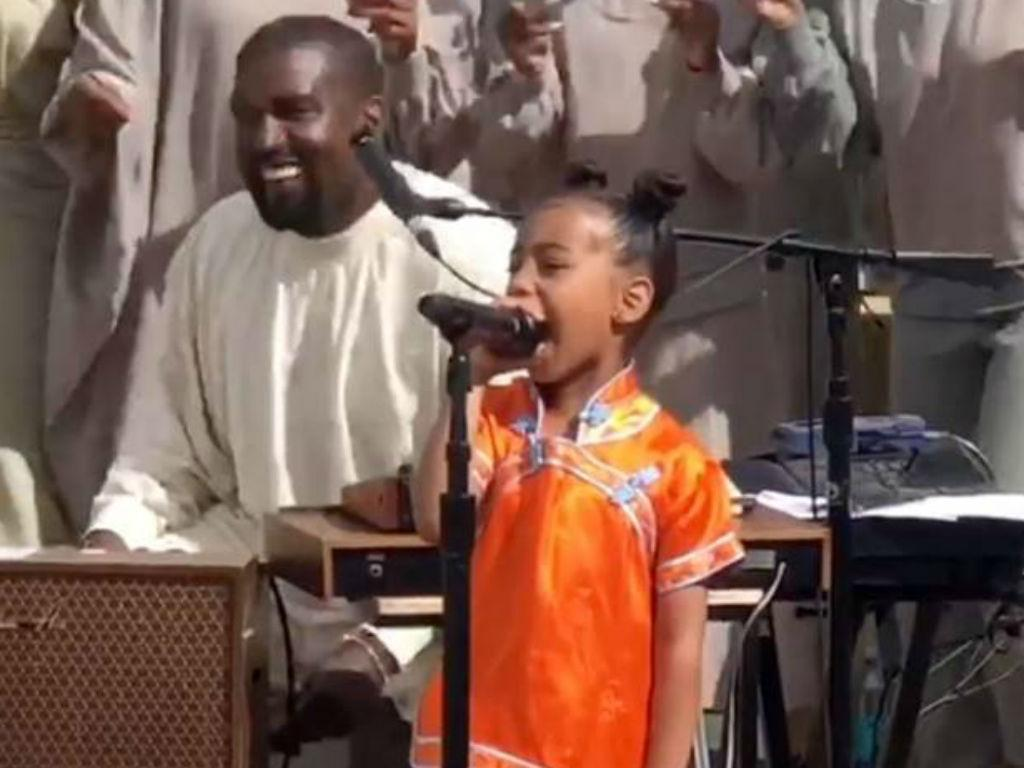 North West Performs At Kanye West Sunday Church Service Stealing The Spotlight From Her Famous Father