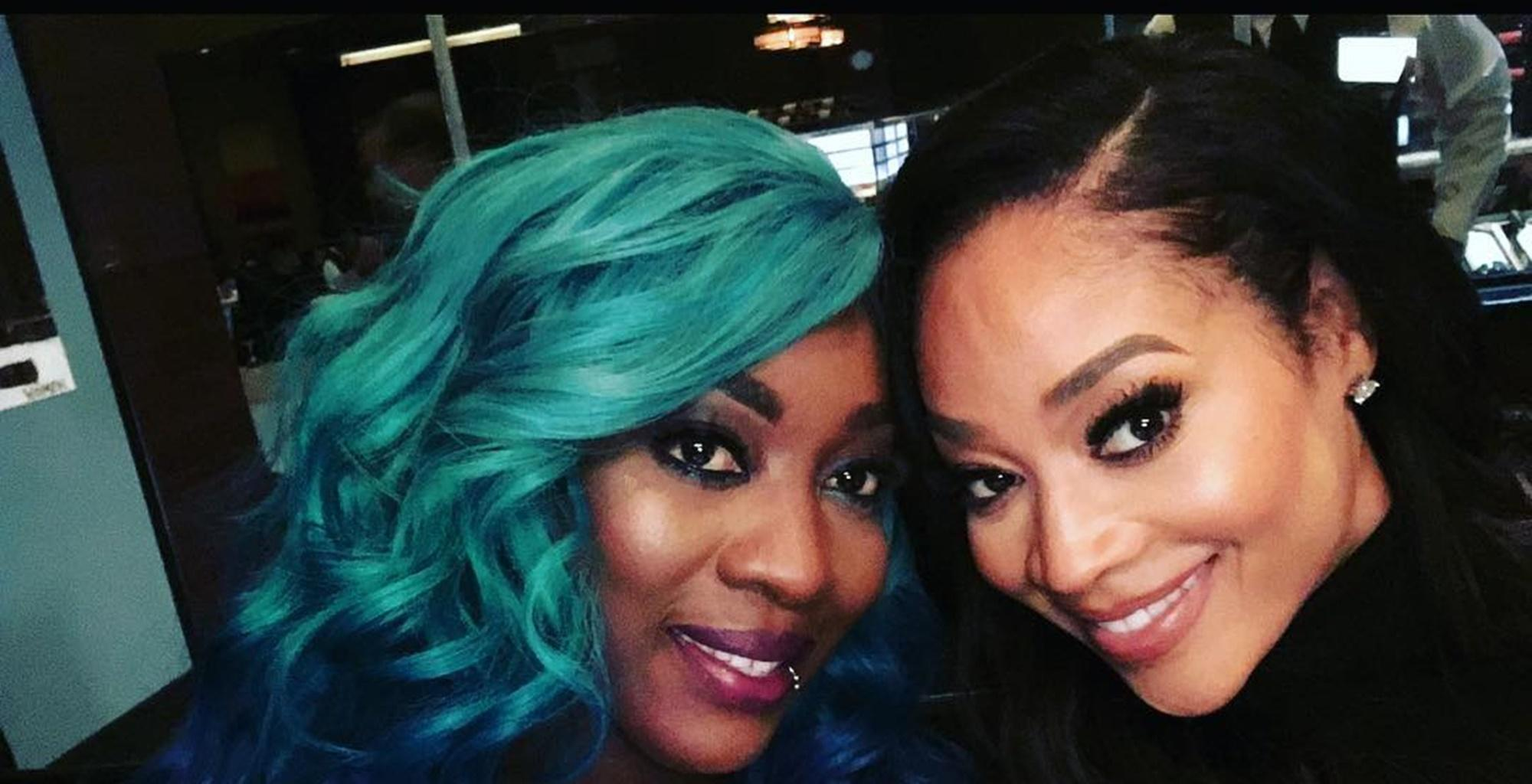 """Mimi Faust Celebrates """"Beautiful Black Women"""" With Sweet Photo Featuring Spice After Epic Skin Bleaching Debate On 'Love & Hip Hop: Atlanta'"""