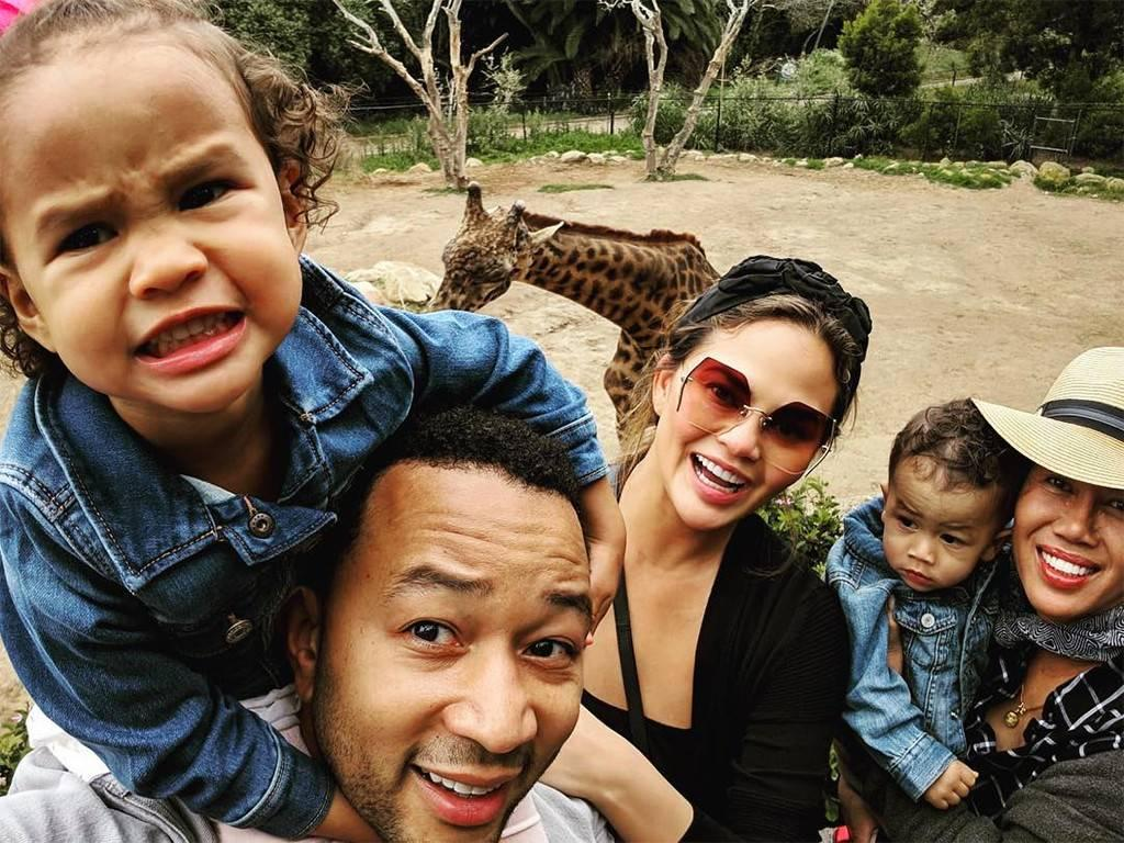 Chrissy Teigen Gets Real About Raising 2 Children Under The Age Of 4 - It's 'Controlled Chaos'