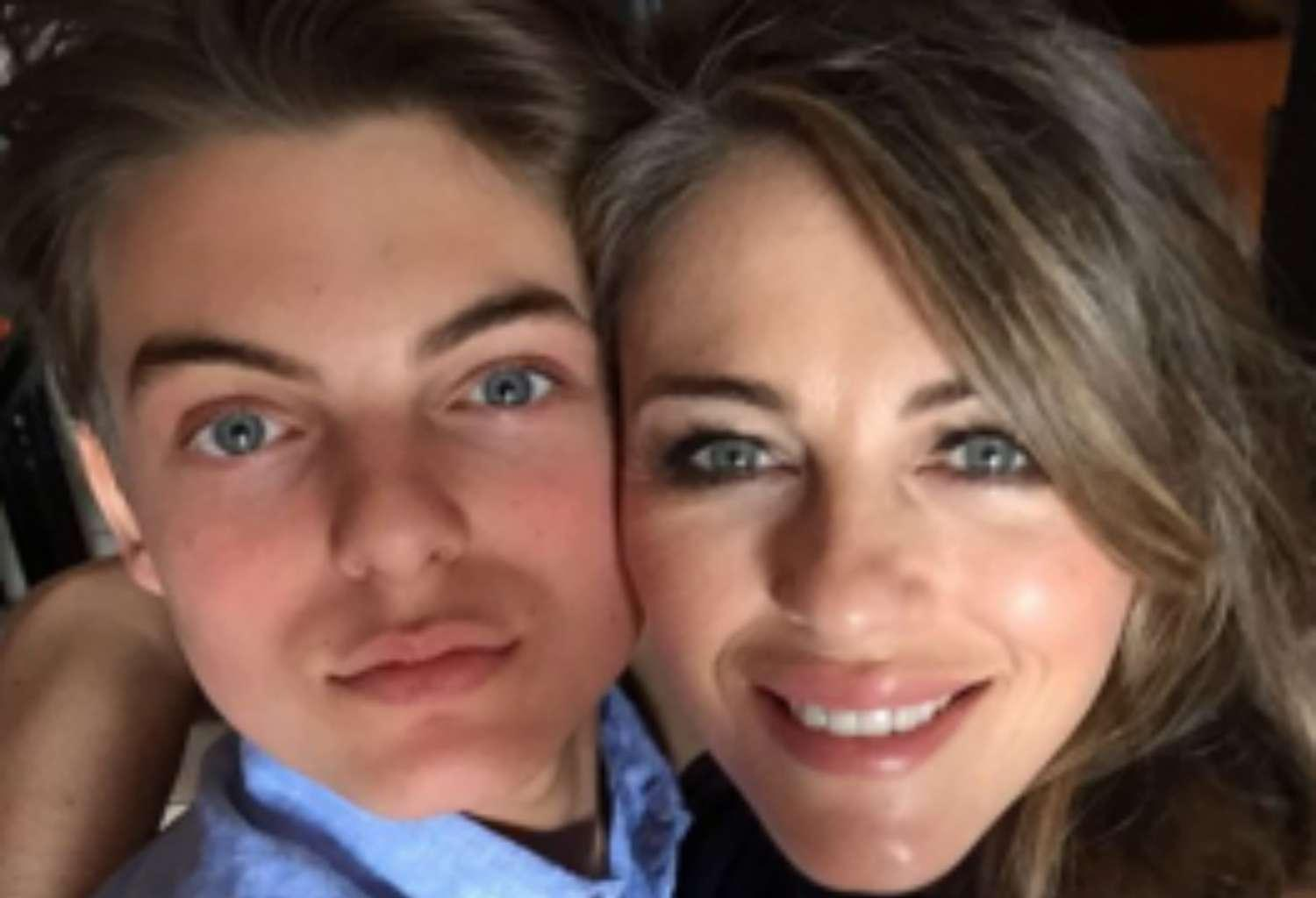 Elizabeth Hurley And Son Damien Look Like Twins In Birthday Post And Fans Think They're Seeing Double!
