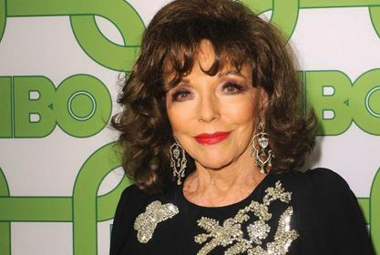 Joan Collins Escapes Her Appartment After Fire Breaks Out