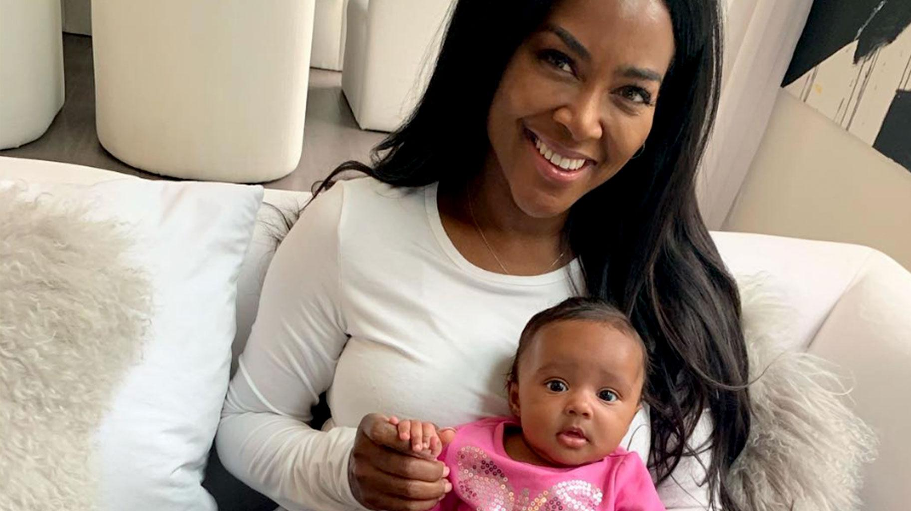 Kenya Moore Is Drop Dead Gorgeous With Baby Brooklyn In Her Arms - See New Pics From The Sheen Photoshoot
