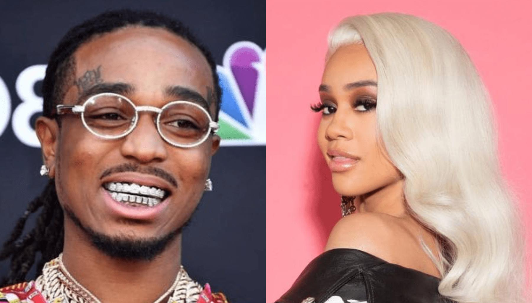 Quavo Surprises Saweetie With New Bling And She Couldn't Be More Excited
