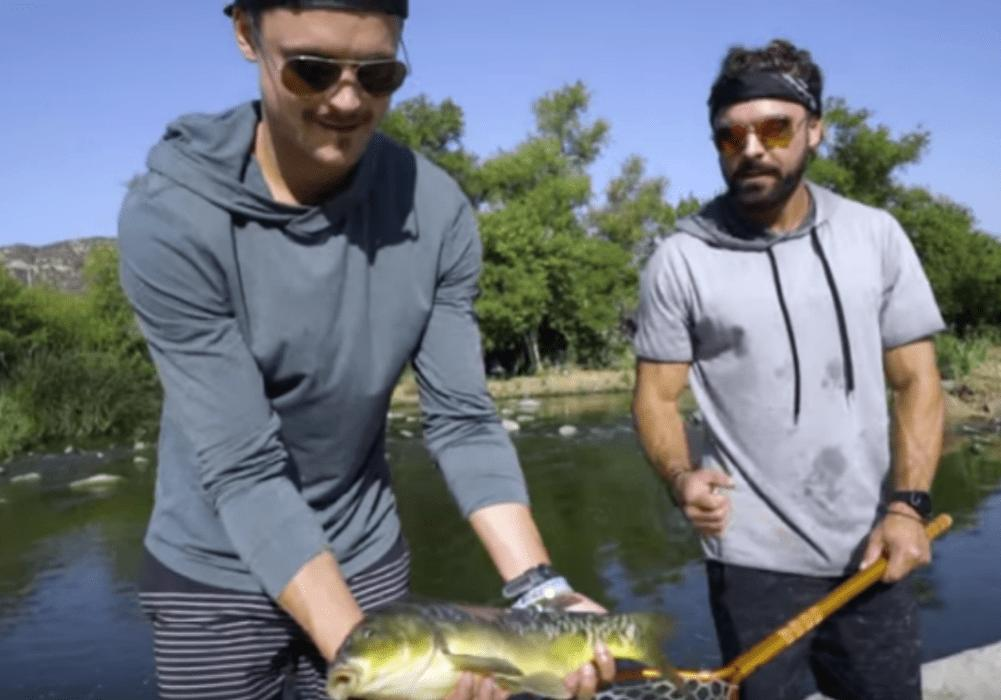 Zac And Dylan Efron Go Fishing In L.A. River — Watch Video