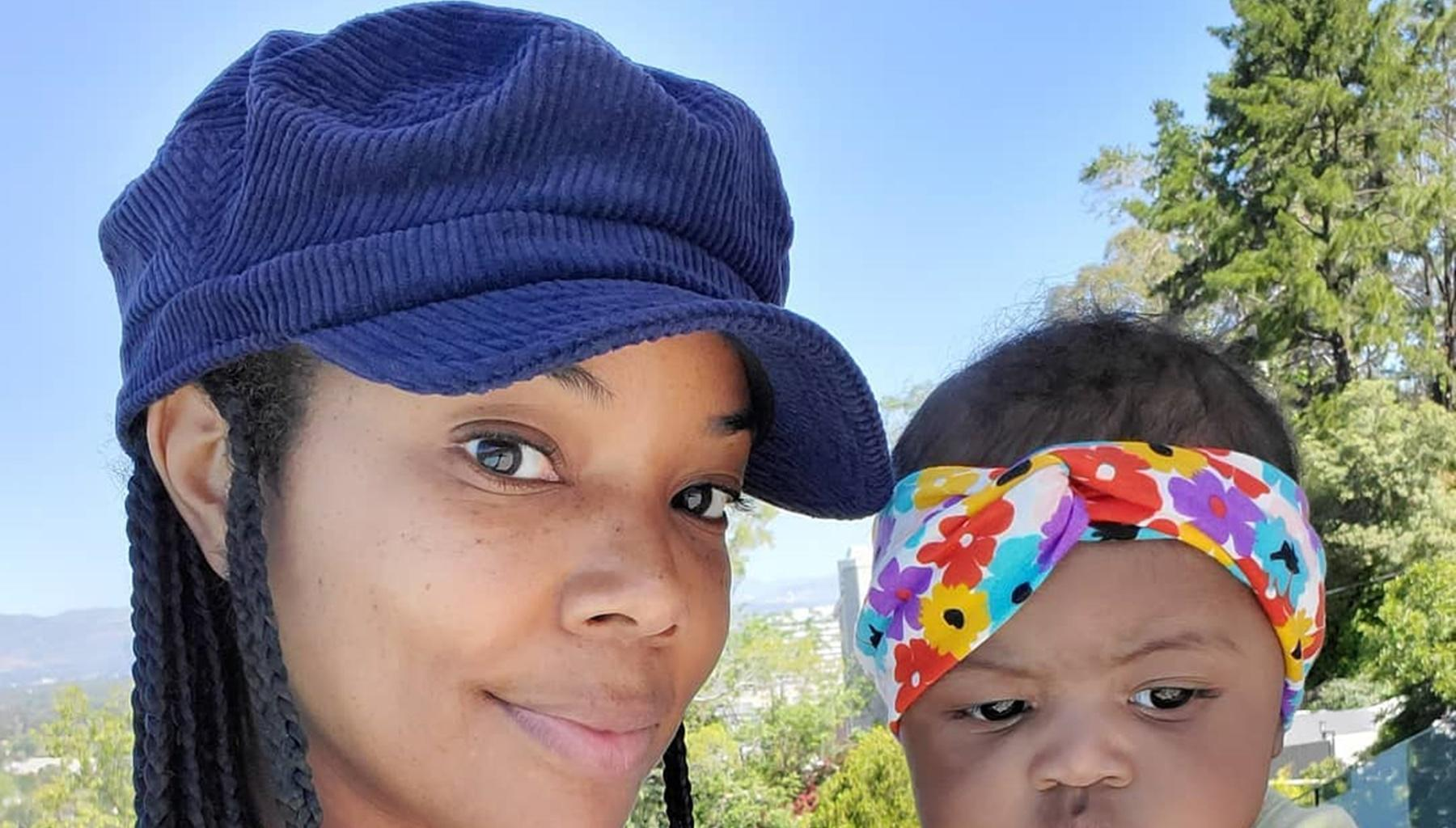 Gabrielle Union, Baby Kaavia Wade, And Their Dog Wearing Matching Outfits In The Cutest Video Ever