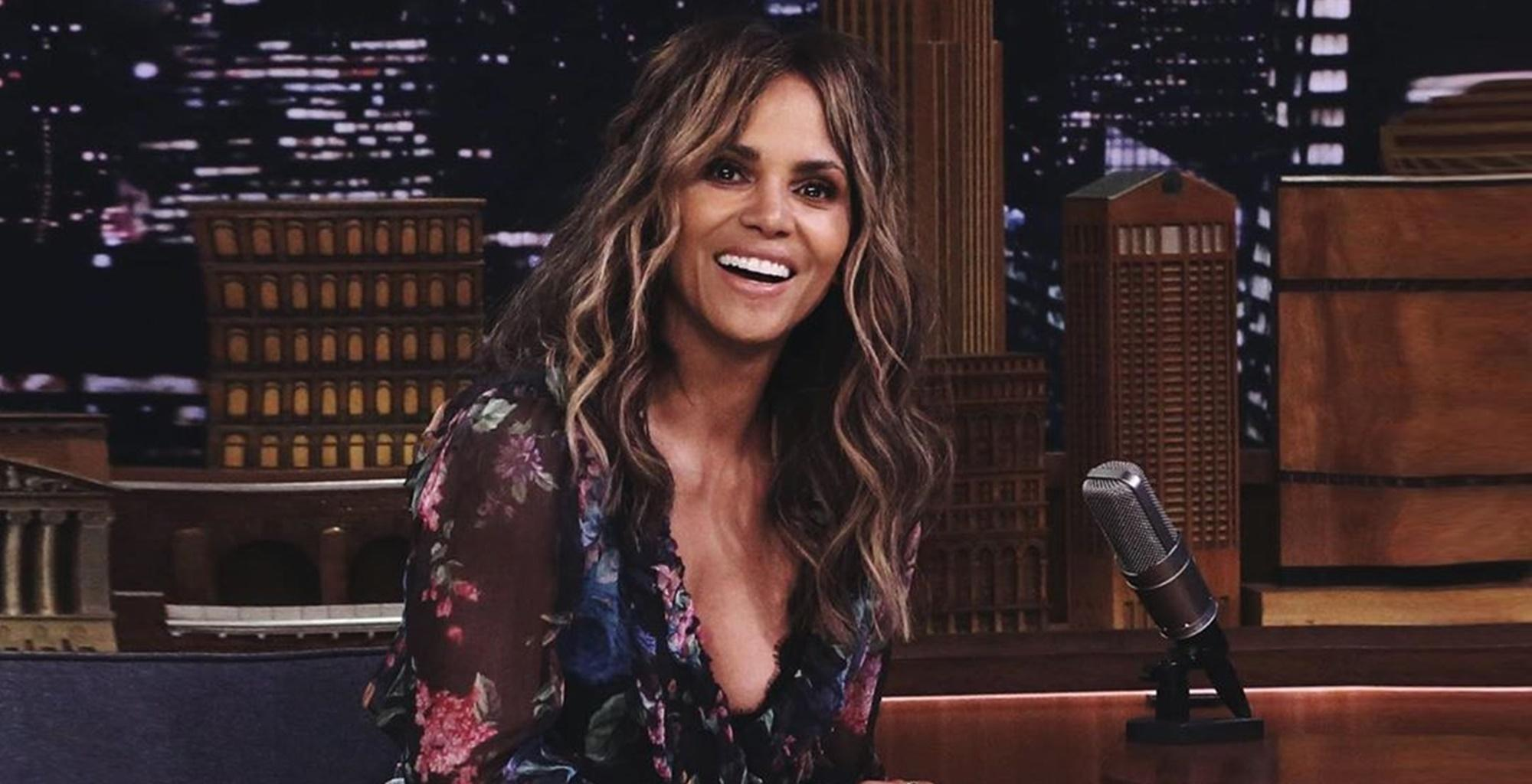 Halle Berry Shows Off Toned Figure In Picture With Keanu Reeves