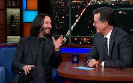 Keanu Reeves What Happens When We Die Theory Goes Viral - Watch His Video With Stephen Colbert Here