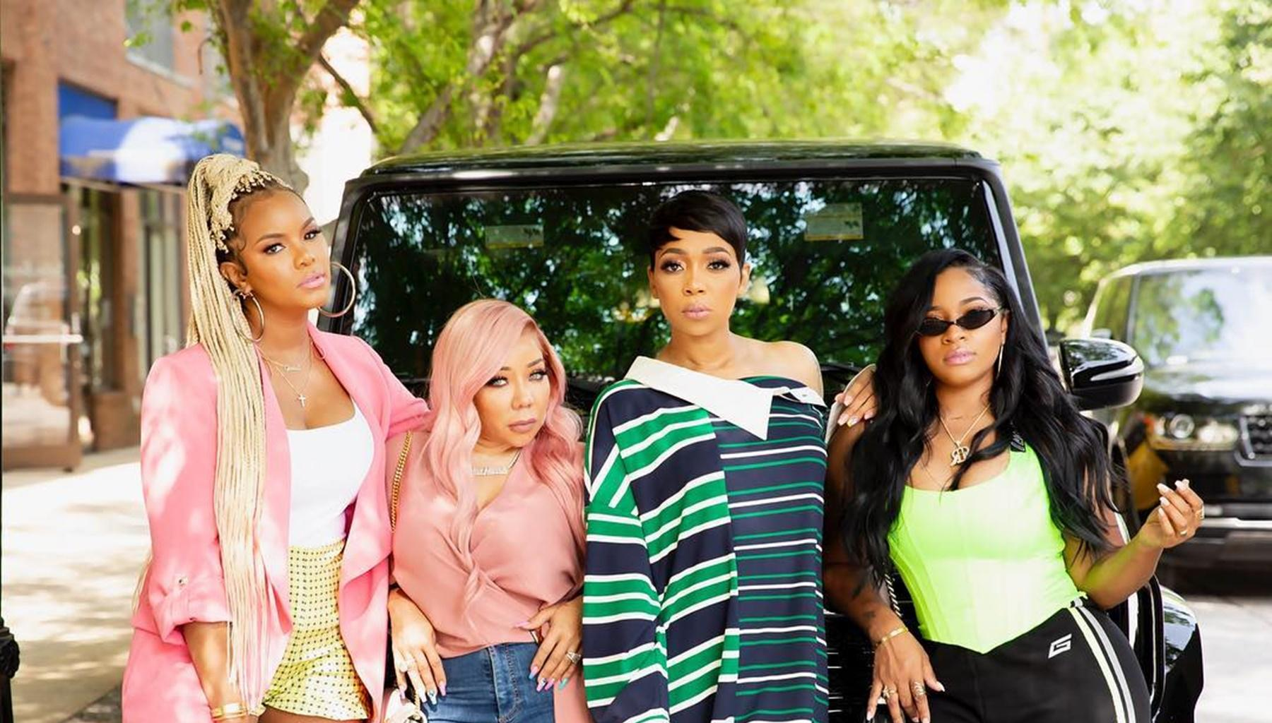 Monica Brown's Feet Steal The Spotlight In Sisterhood Picture With Tiny Harris , Toya Wright, And LeToya Luckett