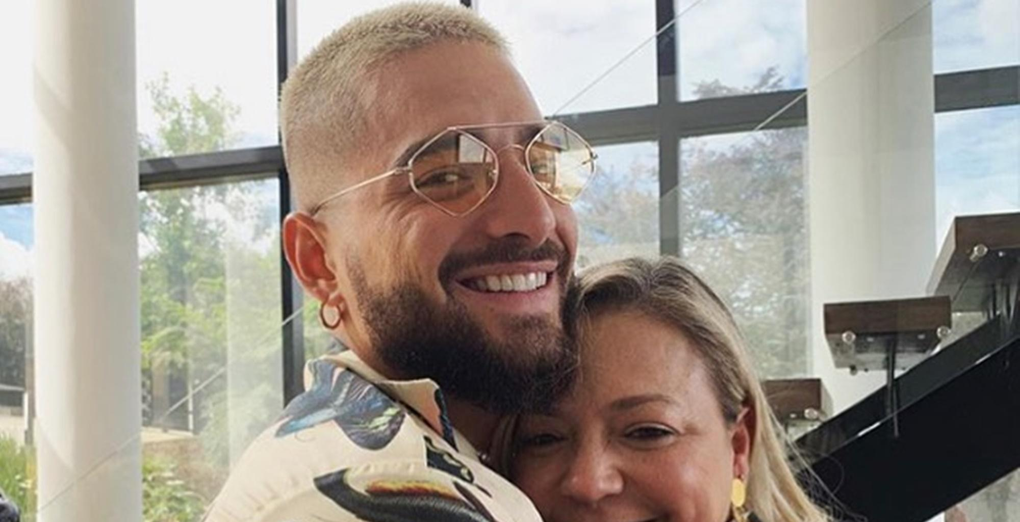Maluma Defends Picture Showing Him Kissing His Mother, Marlli Arias, On The Lips -- 'It Is A Cultural Thing'