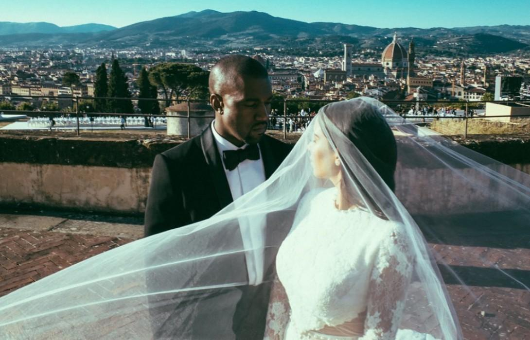 Kim Kardashian-West Shares Wedding Photos On Her Five Year Anniversary With Kanye West