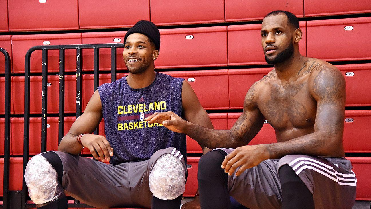 Tristan Thompson And LeBron James Don't Have A Care In The World - Check Out Their Video For Memorial Day - People Notice How Happy Tristan Is Since Khloe Left