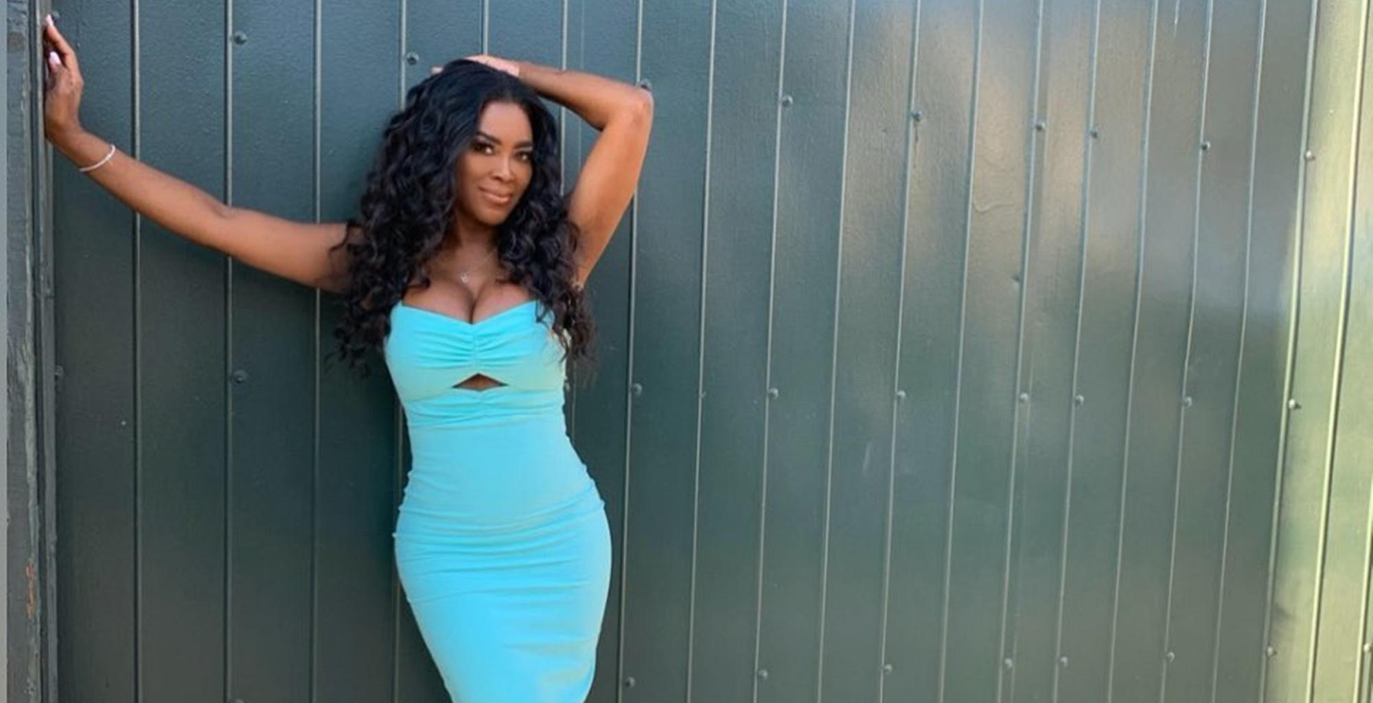 Kenya Moore Slays In Tight Dress Picture And Reveals If She Is Thinner After Giving Birth To Baby Brooklyn