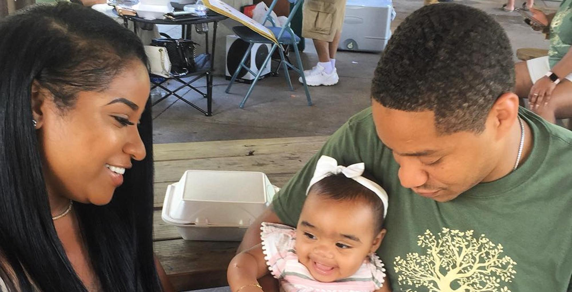 Toya Wright's Video With Robert Rushing Teaching Baby Reigny To Swim Have Fans In Awe