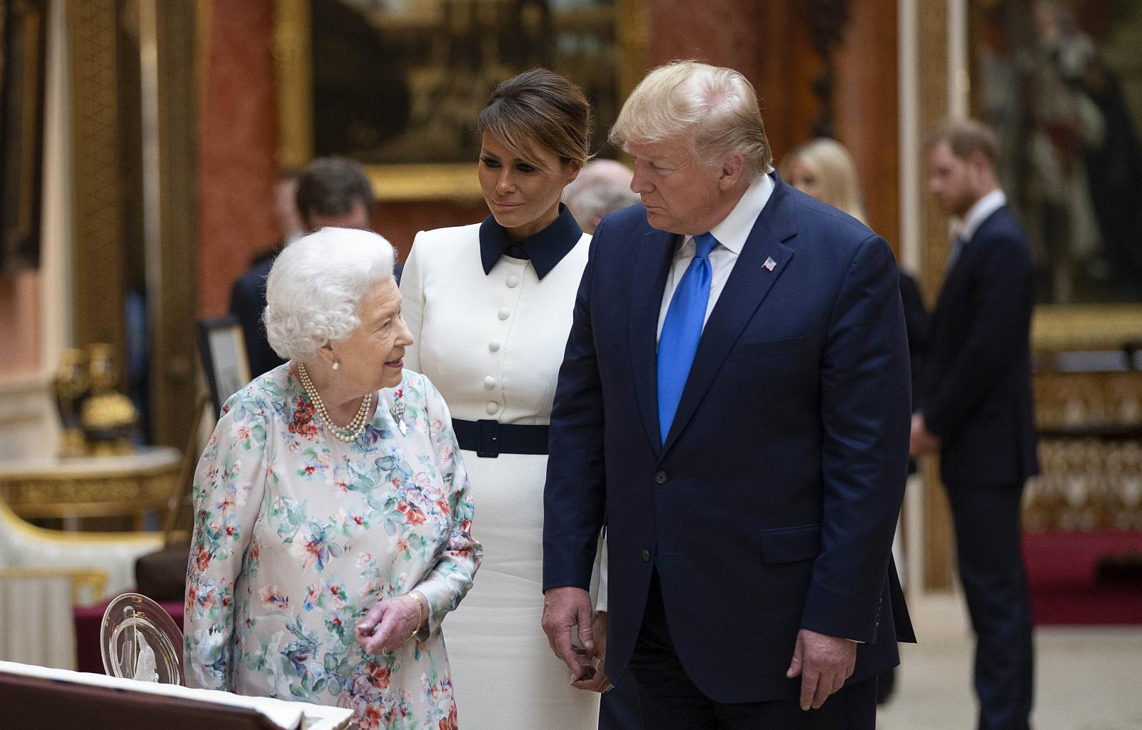 Donald Trump Slammed And Mocked For Fist Bumping Queen Elizabeth!