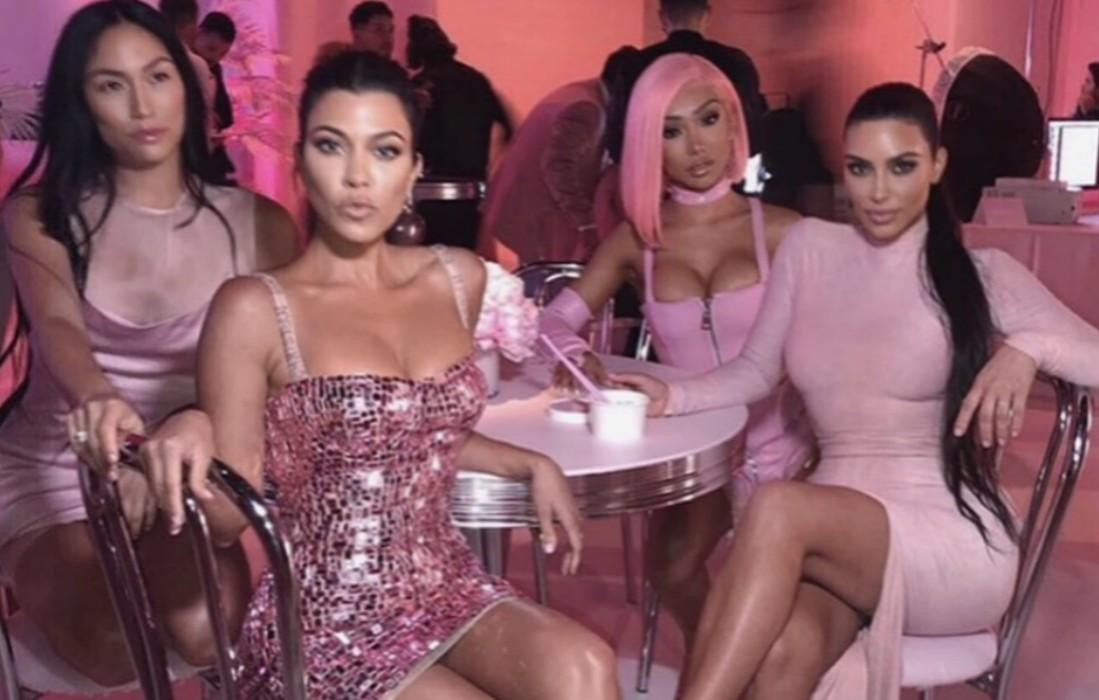 Kylie Jenner's Beauty Line Party Featured Kim Kardashian Eating Pink Noodles, Kourtney And Others Decked Out In Pink