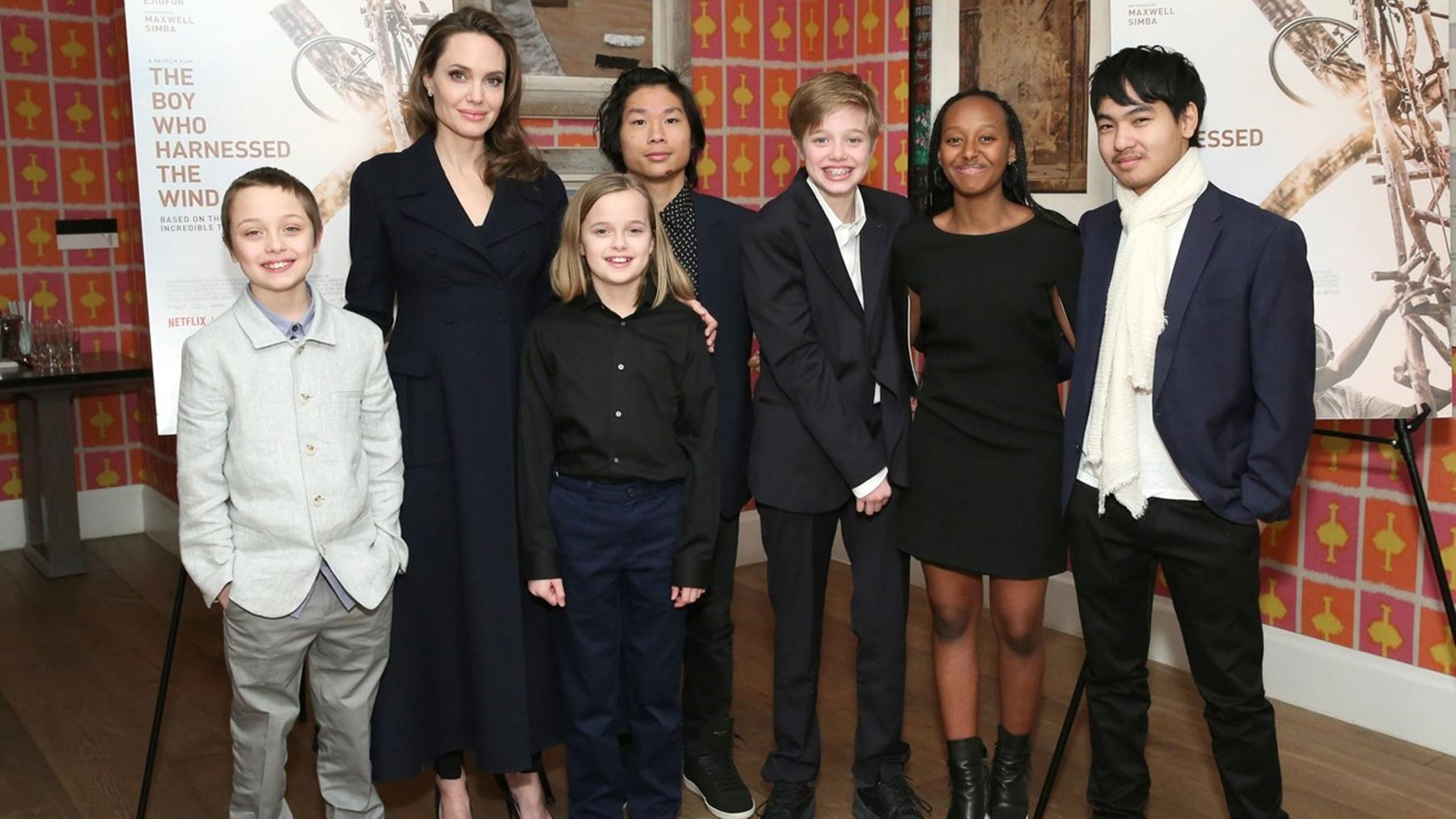 Angelina Jolie And Her Seven Children Get An Adorable Honorary Family Member -- See The Pictures Melting Hearts