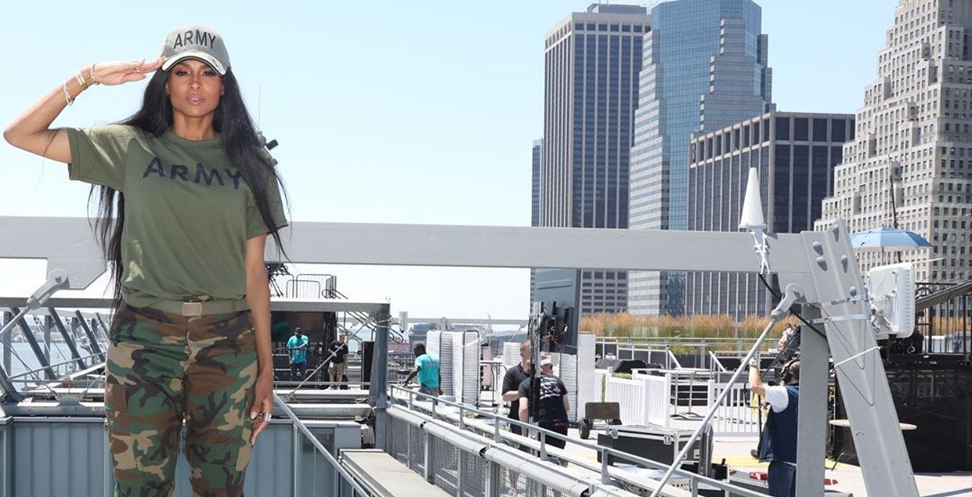 Ciara, Proud Army Brat, Pays Tribute To Her Military Parents In July 4th Video, She Is Bashed For Not Honoring Her Ancestors