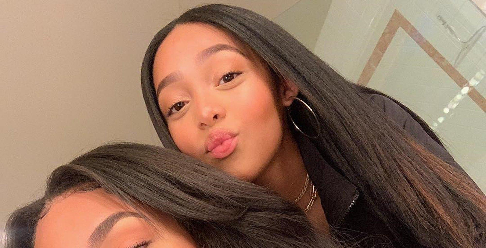 Jordyn Woods Is Twinning With Her 'Copy/Paste' Sister - Check Out The Gorgeous Ladies In the Video