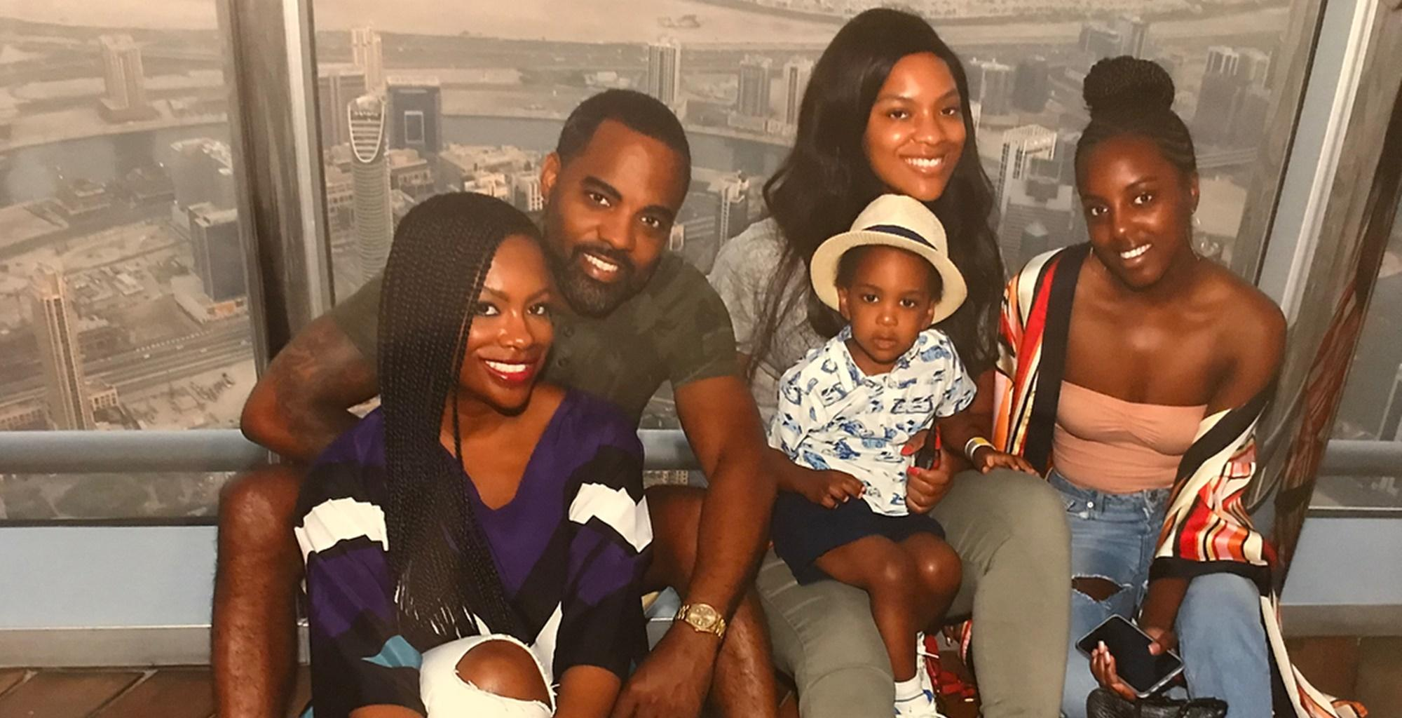 Kandi Burruss Poses With Todd Tucker, Riley Burruss, Kaela Tucker, And Ace Wells Tucker And Fans Are Here For It