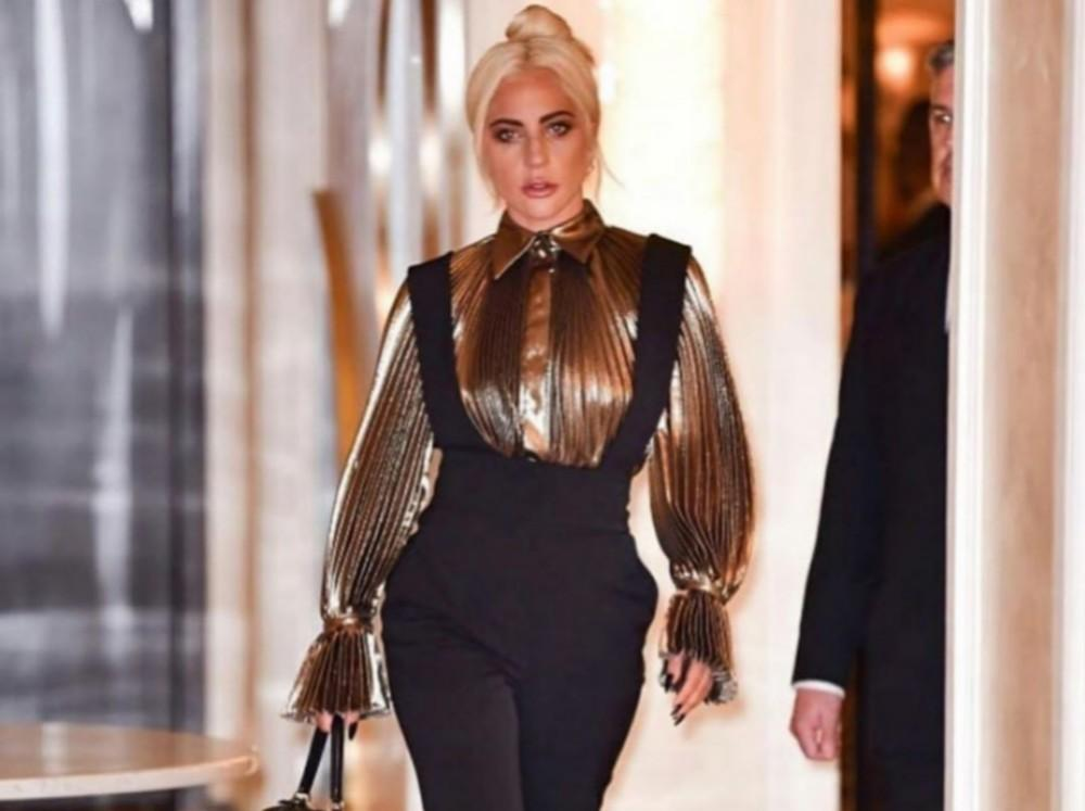 Lady Gaga Steps Out In Alberta Ferretti But Fans Are Going Crazy Over Her Bodyguard Peter Van Der Zeen