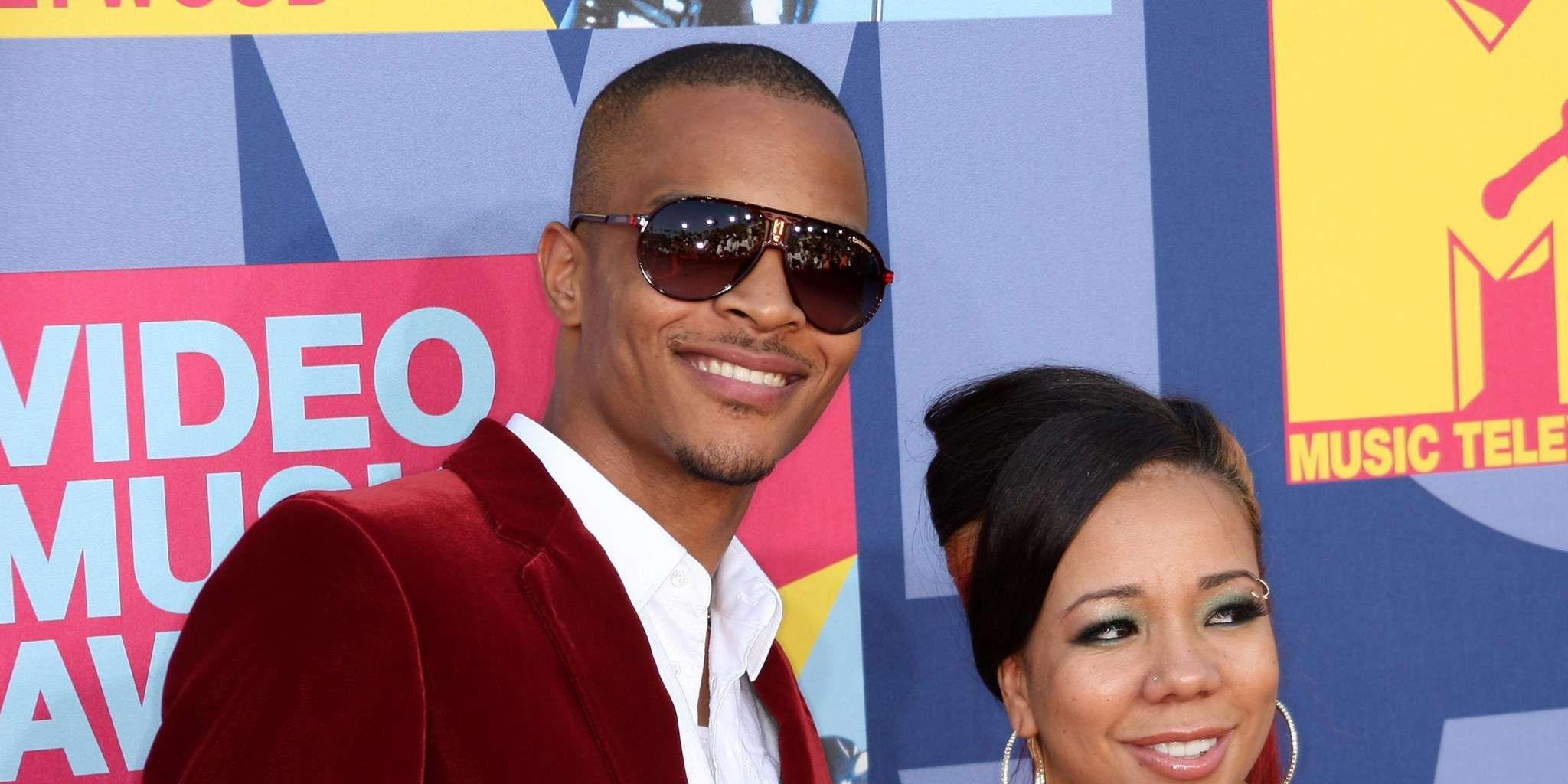 T.I. Hides Tiny Harris' Birthday Present At The Bottom Of Her Cocktail Glass, A Stunning Diamond And Ruby Necklace!