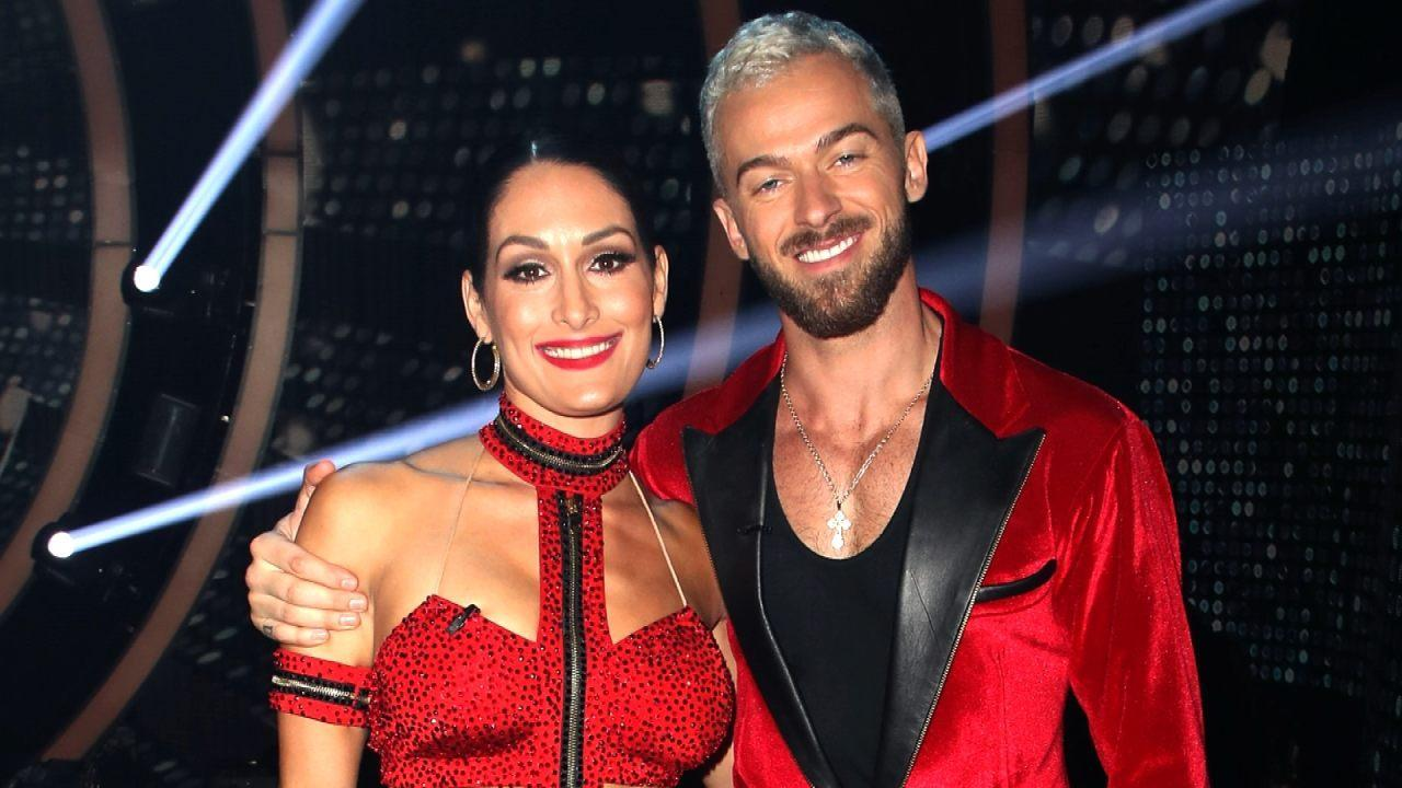 Nikki Bella And Artem Chigvintsev Show Off Their Love While On The Teen Choice Awards Red Carpet