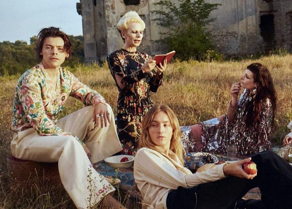 Harry Styles Covers Rolling Stone Fresh Off Of Gucci Campaign