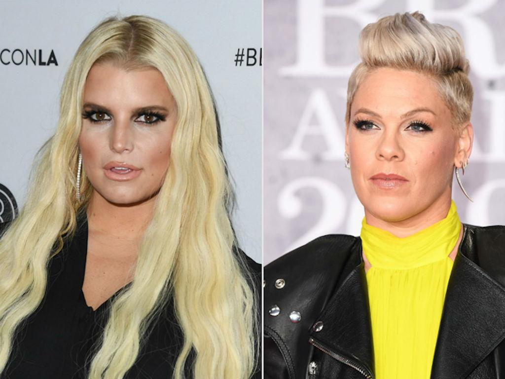 Pink Rallies Behind Jessica Simpson After Trolls Mom Shame Her For Dying Daughter's Hair